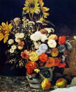 101 Pierre Auguste Renoir-fiori in un vaso